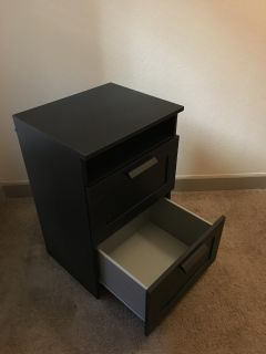 Black Two Drawer Cabinet