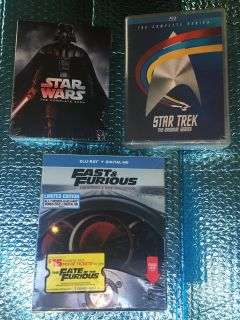 Fast & The Furious, Star Wars, Star Trek - Complete Series Blu-Ray & Digital