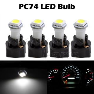 Find 4x T5 Twist Socket PC74 Instrument Panel Cluster White Dash Light Bulb 73 74 motorcycle in Cupertino, CA, US, for US $5.99