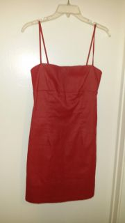 Red Jean stretchy dress medium size
