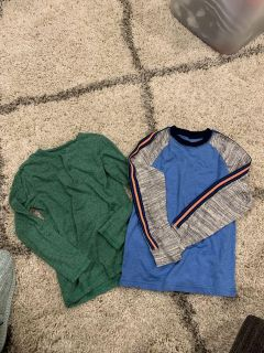 H&M s green long sleeve 6/8 and Cat and Jack Blue 6/7