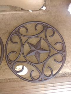 Red shed cast iron stepping stone
