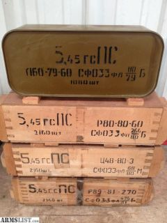 For Sale: RUSSIAN 5.45 x39 7N6 MILITARY SURPLUS AMMO
