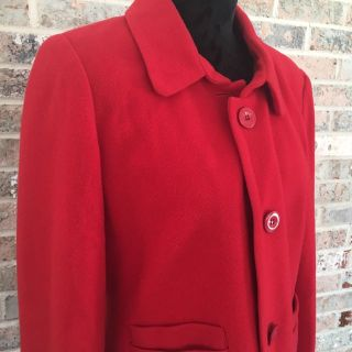 Harve Benard Red Wool Blazer or Coat