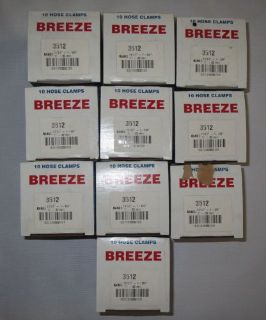 """Find Lot Of 100 Breeze Size 12 Hose Clamps 11/16"""" To 1-1/4"""" 17-32mm 10 Boxes 3512 motorcycle in Holly, Michigan, United States, for US $99.99"""