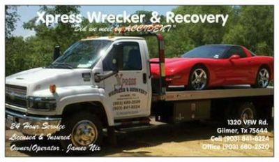 WRECKER SERVICE (Longview,gilmer,glade water area )