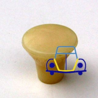 Ghia Headlight-Wiper Knob, Ivory Bell, 58-66
