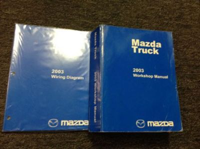 Purchase 2003 Mazda Pickup Truck Service Repair Workshop Shop Manual Set W Wiring Diagram motorcycle in Sterling Heights, Michigan, United States, for US $89.99