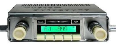 Find Vintage Radio AM FM AUX USB iPod MP3 VW Bluetooth & Speaker Beetle ivory knobs motorcycle in Costa Mesa, California, US, for US $449.85
