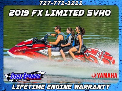 2019 Yamaha FX LIMITED SVHO **FREE LIFETIME WARRANTY OR FREE TRAILER** PWCs Clearwater, FL
