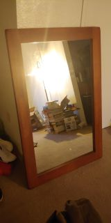 Wall mirror (solid wood frame)