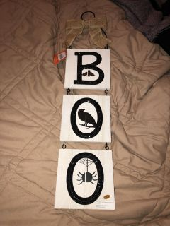 Double sided Halloween hanger NWT