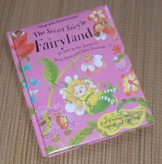 """Vintage 2002 Secret Fairy in Fairyland Hard Cover Book with """"Glittery"""" Holofraphic Stickers Age ..."""