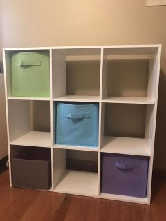 9 cube organizer with containers