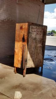 Large Antique Vintage Tool Storage Cabinet