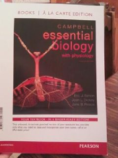 $45 Campbell Essential Biology w/ Physilogy