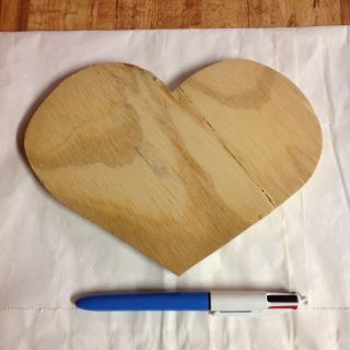 Unfinished Wood Heart