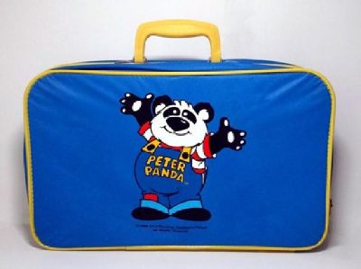 Peter Panda *Rare* Vintage Collectible 1980's Toy Vinyl Suitcase