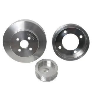 Purchase BBK 1554 Pulley Set Serpentine Aluminum Polished Ford Small Block Set of 3 motorcycle in Tallmadge, Ohio, US, for US $129.99