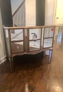 New mirrored table