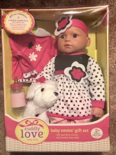 BABY EMMA BLACK AND PINK OUTFIT.