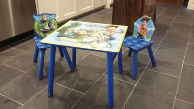 Delta Brand Toy Story Kid Table and Chairs
