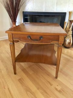 Project Piece - Vintage French Country Style Hardwood Side Table