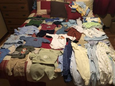 Large lot of boys 0-3 month clothes