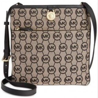 ***BRAND NEW***MICHAEL Michael Kors Signature Jet Set Large Pocket Crossbody***