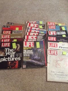 21 old Life and Look Magazines 1967-1983