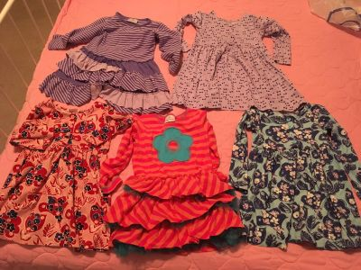 Lot of 5 Hanna Andersson Dresses 4T