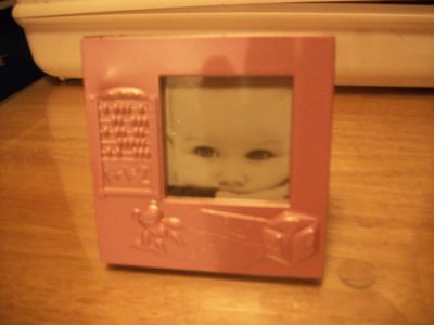 #6433 BABY PICTURE FRAME 4 X 4 GIRL