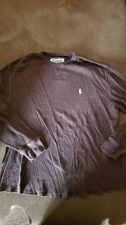Cremieux brown thermal top ~ size xl