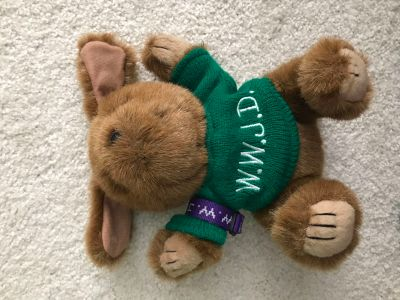 WWJD Stuffed Animal with WWJD Bracelet