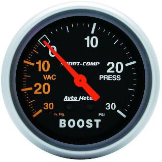 "Purchase Auto Meter 3403 Sport Comp 2 5/8"" Mechanical Boost/Vacuum Gauge 30 PSI motorcycle in Greenville, Wisconsin, US, for US $88.24"