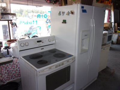 Maytag Refrigerator and Electric Stove