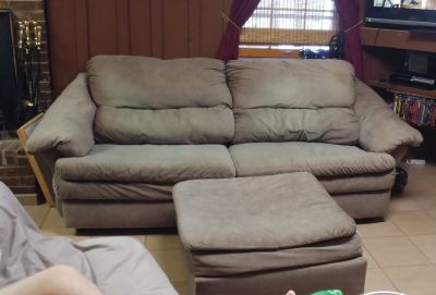 Couch with matching chair and ottoman