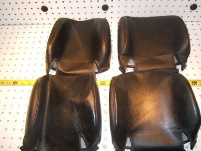 Find Mercedes W126 560SEL black leather headrest covers 4, Front and back,1 set of 4 motorcycle in Rocklin, California, United States, for US $198.00