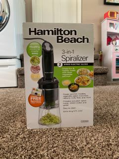 NIB without tags Hamilton Beach Spiralizer