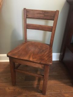 Kid-sized solid wood chair