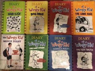 Set of 8 Diary of a Whimpy kid books