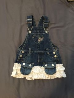 18 month blue jean dress with ruffles
