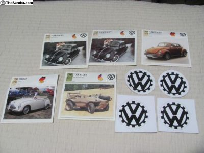VW Beetle Cards Schwimmwagen Decals Volkswagen Lot