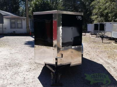 Snapper Trailers : Enclosed 5x10 Single Axle Luggage Trailer in Black