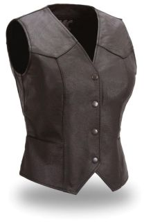 Purchase FMC MFG Ladies Leather Motorcycle Vest FML500 motorcycle in Palatine, Illinois, US, for US $45.00