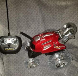 Remote control car. It flips up and can spin in circles. $5