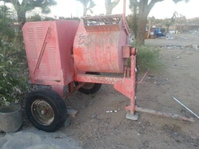 Cement Mixer w/on Trailer