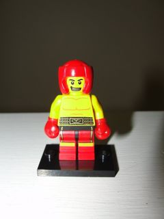 "LEGO #13 ""BOXER"" MINIFIGURE SERIES 5 COMES WITH BLACK STAND"