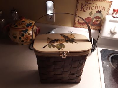 Vintage wooden tote/sewing box