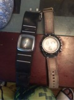 Nixon n fossil watch
